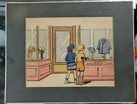 "Vintage Basset's Department Store Advertising Illustration 14""x11"""