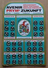 72 Set (2 Pcs.) Small Metal Snap Fasteners Press Button Stud Silver Size 9 mm.