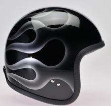Genuine Davida Ninety 2 helmet one only size Large Black/Silver Flames