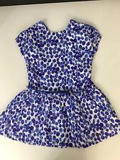 Oilily Girls Blue Summer Dress Short Sleeve Age 4 Years Fingerprint Immatulate