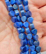 6mm Teardrop Shaped Lapis Lazuli Gemstone Beads 7.75 Inch Strand Natural NOS