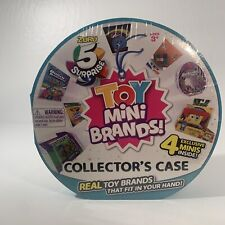 5 Surprise Toy Mini Brands Collector's Case by ZURU Includes 4 x Toys NEW