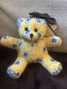 VERA BRADLEY Bitty ELIZABETH Teddy Bear Vintage, Rare, Purse Charm New