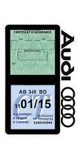 Porte vignette assurance AUDI double étui adhésif voiture Stickers auto rétro