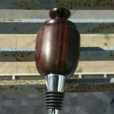Bottle Stopper, rosewood top made on my lathe.