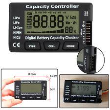 Digital LCD Battery Capacity Voltage Checker Tester For LiPo LiFe Li-ion NiMH
