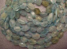 Chinese Aquamarine Faceted Freeform Nuggets Beads 36pcs