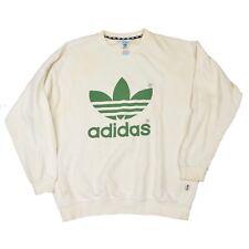 VINTAGE Adidas Sweatshirt Pullover Gr 7 L Made in Greece Retro '90s Trefoil COOL