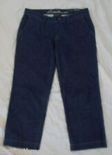 0730 Eddie Bauer Mercer Lightweight Capri Cropped Stretch Blue Jeans, size 10