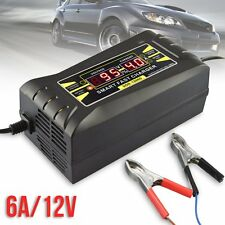 12V 6A Smart Car Motorcycle PWM Battery Charger LCD Display Fast Trickle Charger