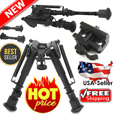 Tactical Rifle Gun AR Bipod OP SWAT Grip Adjustable Mount Stand Dual Height 223