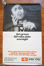 1960s 207 Mile Overnight Inter City Sleepers Original Railway Travel Poster