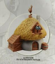 La maison du schtroumpf paysan  N°30  Neuf 10 cm figurine village schtroumpfs