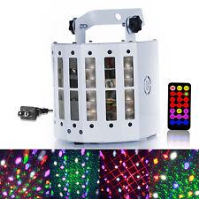 Sound Active Laser Projector DMX512 LED RGBWY Strobe Stage Light DJ Party KTV