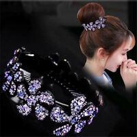 Fashion Crystal Rhinestone Flower Hair Clip Barrette Hairpin Hair Accessories