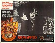 KIDNAPPED - MICHAEL CAINE / ROBERT LOUIS STEVENSON - ORIGINAL USA LOBBY CARD SET