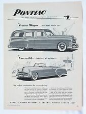 1949 Pontiac Station Wagon, Convertible Full One-Page Print Advertisement