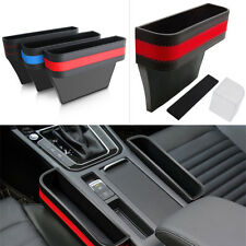1pcs PU Leather Catcher Boxes Caddy Car Seat Gap Pocket Storage Organizer Bags
