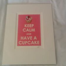 """Peter Smith """"Keep Calm & Have a Cupcake"""" - Limited edition print no 241"""