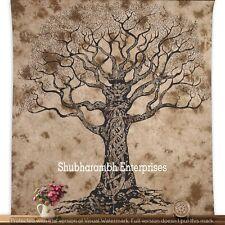 Handmade Mandala Cotton Tapestry Boho Queen Bedspread Hippie Throw Tree Of Life