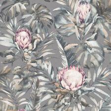 Holden Decor Protea Floral Wallpaper Grey 90061