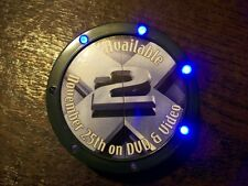 X-2 X-MEN 2 Lighted Hockey Puck Movie DVD Release Promo Pin Button Walmart