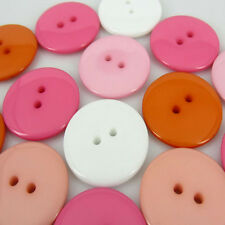 """50pcs 7/8"""" 23mm Mixed Colors Round Resin Buttons For Sewing Craft Scrapbooking"""