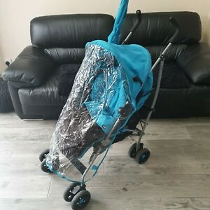 Mamas & Papas Stroller - Duck Egg Has footmuff raincover and parasol.