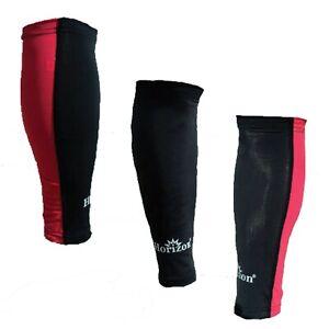 Horizon Red/Black Running Sport Compression Calf Guard