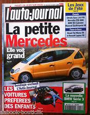 L'AUTO-JOURNAL du 8/1996; BMW série 3/ Voitures préférées des enfants/ E 50 AMG