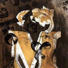 "36""x36"" M by RODNEY WHITE LETTER ALPHABET GICLEE CANVAS"
