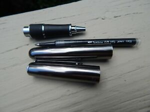 Silver TOMBOW Zoom 505 BW Rollerball Pen With Case Full Ink Cartridge