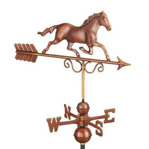 Good Directions Weathervane Galloping Horse Pure Copper Hand Finished Bronze