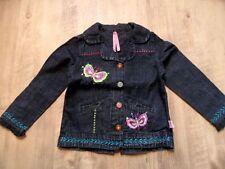 MIM-PI schöne Jeansjacke Schmetterlins-Stickerei Gr. 104 w.NEU ST817