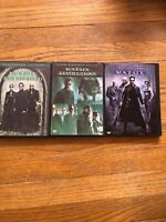DVD Lot Of 3 The Matrix & Matrix Reloaded 2-Disc Set & Revolutions  Keanu Reev