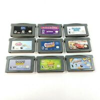 Lot of 9 Nintendo Game Boy Advance Games Loose Cartridges Tested & 100% Working
