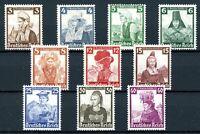 Deutsches Reich MiNr. 588-97 postfrisch MNH Trachten (D624