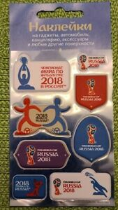 FIFA 2018 Russia Gadget Stickers. Official licensed product.