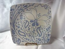"Trish Richman Blue & White Square Dinner Plate 10"" X 10-1/4"""