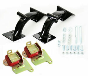 68-72 Chevy Truck Black Tubular V8 Engine Mounts w/ Polyurethane  350-454 Kit