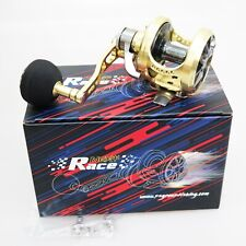 NEW NEXT RACE NO.3LS Heavy Duty REEL Left Gold / Gunsmoke Fedex 2 days to Usa