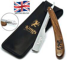 Cutthroat Razor for Men by Kings Cut throat® - Men's Straight Shaving Kit Bag