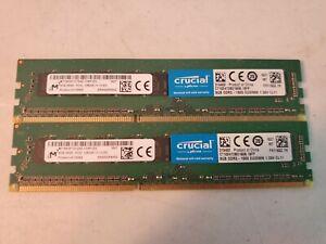 Micron Crucial 16GB (2x8GB) PC3L-12800E Desktop Memory UNTESTED