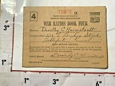 1943 WWII War Ration Book 4 w Coupons Bellefote PA 1 complete sheet & partials