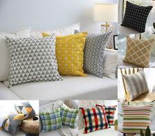 45/60cm Both Sides Geometric Cotton Linen Cushion Cover Sofa Throw Pillow Case