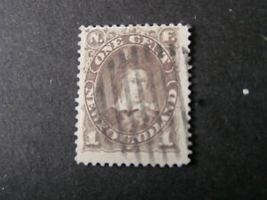 NEWFOUNDLAND, SCOTT # 43, 1c.VALUE BROWN PRINCE OF WALES 1896 ISSUE USED