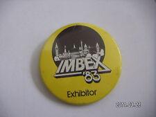IMBEX 83 EXHIBITOR LONDON PICTURE BADGE