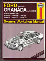 Ford Granada & Scorpio 1985-1993 Petrol Haynes Owners Workshop Manual