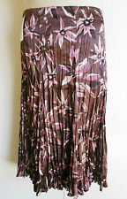 Size 18 Purple Pink White Crush Look Pleated Skirt Mid Length Style BNWT