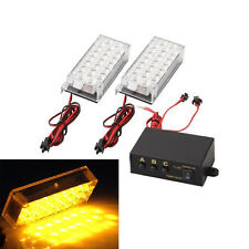 2x 22 LED STROBE FLASHING RECOVERY STROBE GRILLE LIGHTS AMBER WARNING